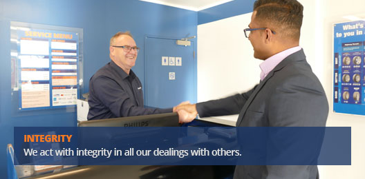 Our Core Values - Integrity